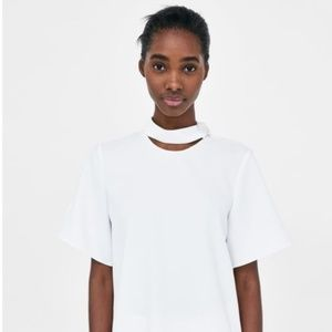 ZARA Top with button detail SIZE  S NEW WITH TAGS